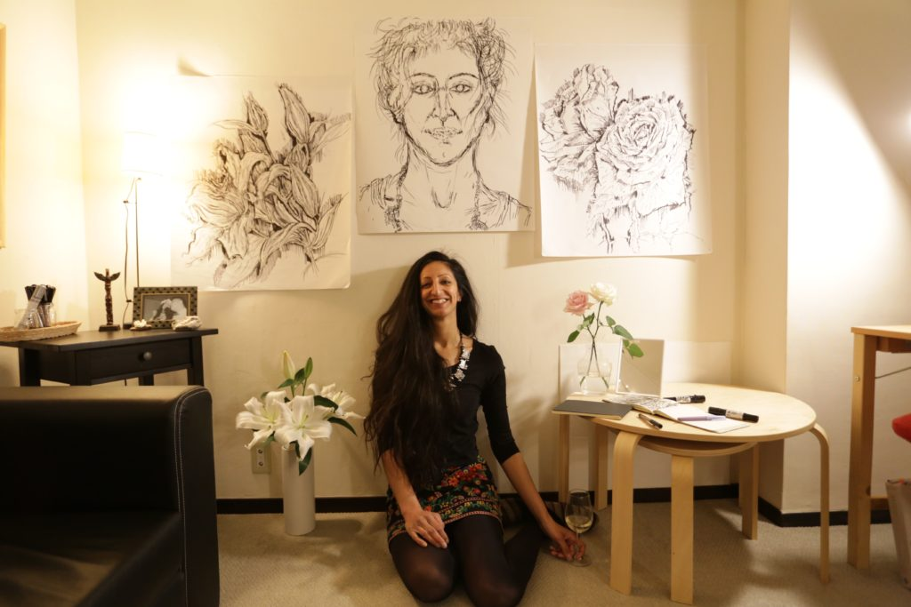 Divya Marie Kato. Artist & Founder, When In Doubt, Draw