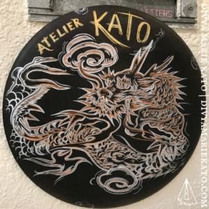 Atelier KATO, Hand Carved Sign, Divya Marie Kato
