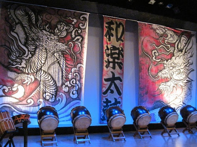 Waraku Daiko Mural, Sumi On Canvas, Private Collection 2012 ©