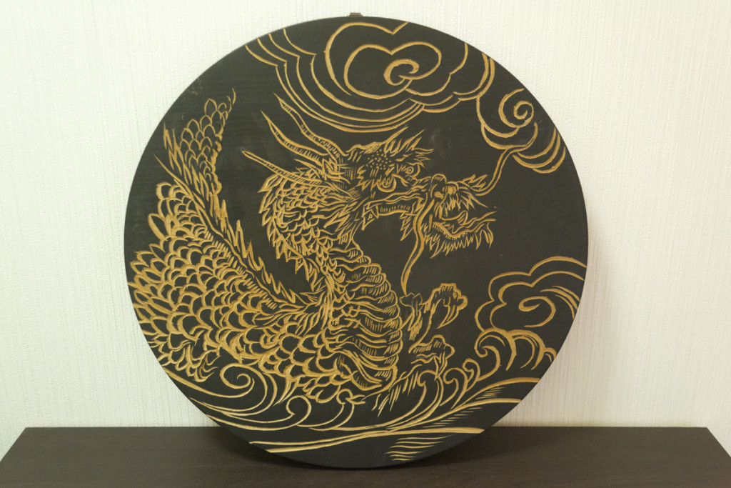Wood Carving, Tohoku Fundraiser, Private Collection 2011 ©