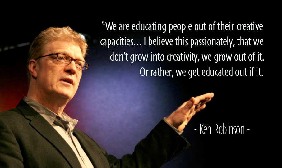 Ken Robinson Creativity Quote