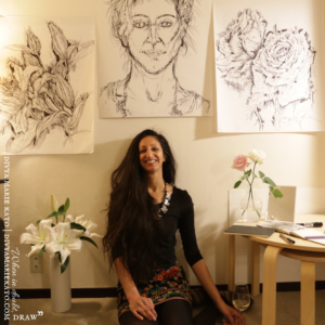 Divya Marie Kato FRSA, Artist & Founder of When In Doubt, Draw