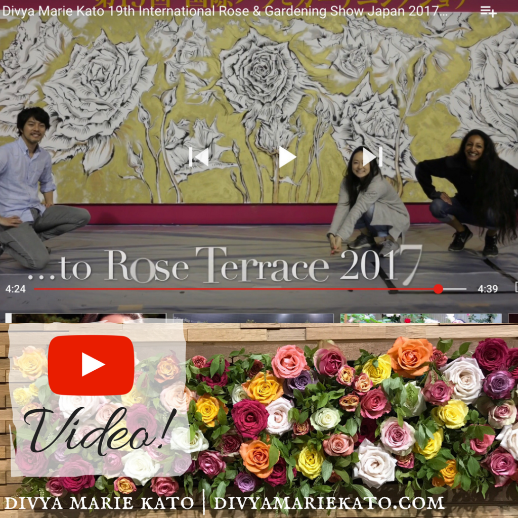 Divya Marie Kato & Afrika Rose at The International Rose & Gardening Show Japan 2017 国際バラとガーデニングショウ(ガーデニング編)