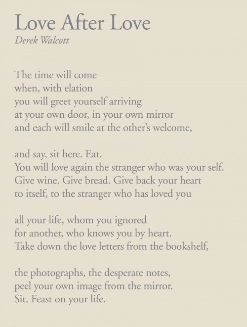 Love After Love, By Derek Walcott