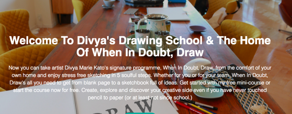 Divya's Online Drawing School: Free Mini Course & Signature Programme