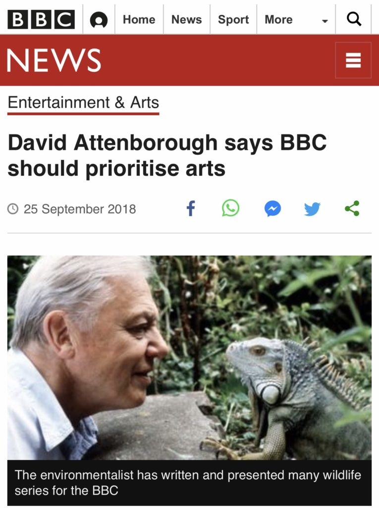 David Attenborough Arts