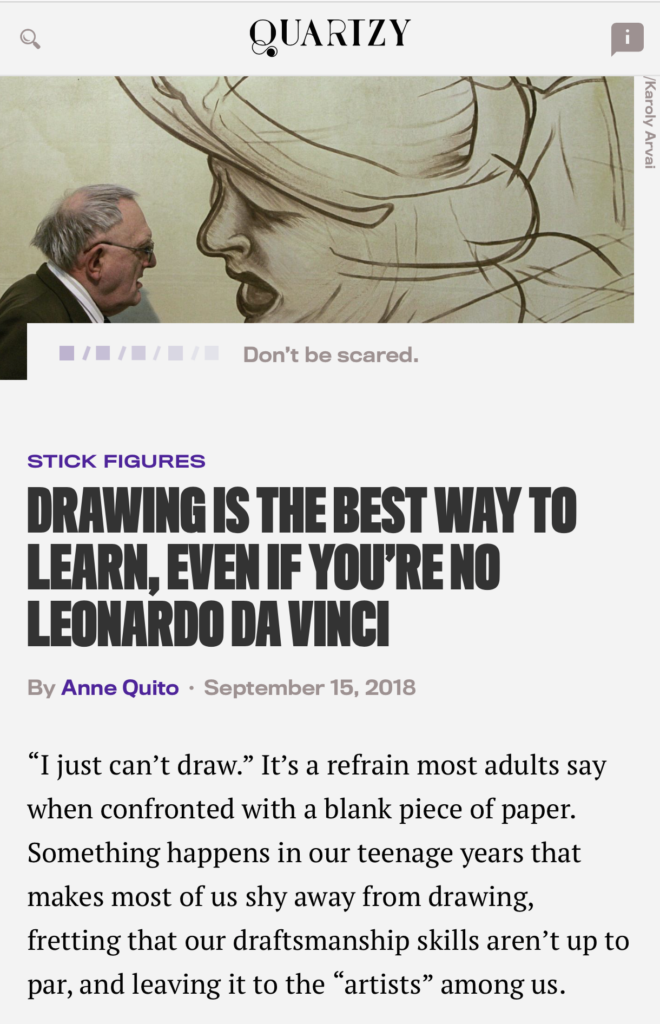 Drawing Is The Best Way To Learn