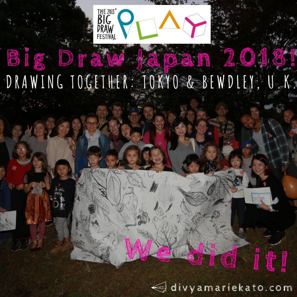 The Big Draw Japan 2018, Yoyogi Park Tokyo & Ruskin Land, U.K