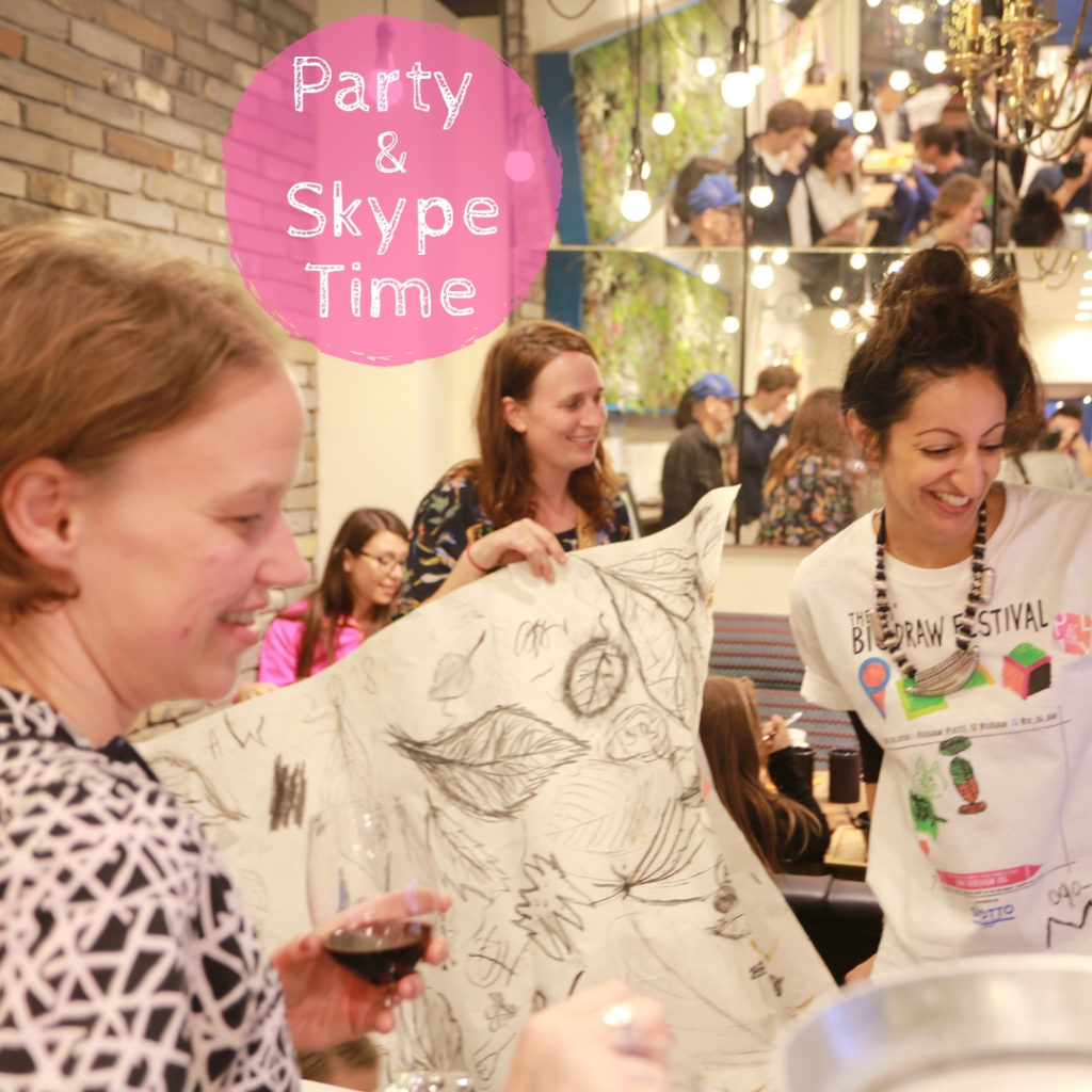 Party & Skype Time: Big Draw Japan - UK 2018