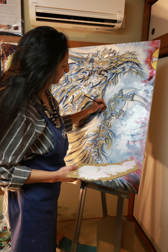 """There's nothing more hopeful than a dragon."" Divya Marie Kato, Tokyo-Based Artist, CEO Atelier Kato Tokyo"